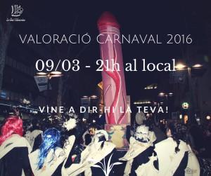 valoració del carnaval 2016