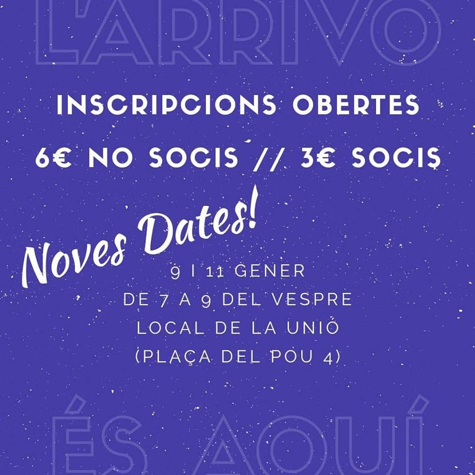 noves dates Arrivo